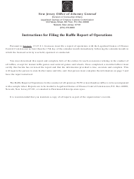 "Form LGCCC8R-A ""Raffle Report of Operations"" - New Jersey"