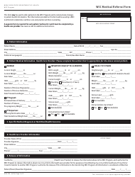 """Form DOH-799 """"Wic Medical Referral Form"""" - New York"""