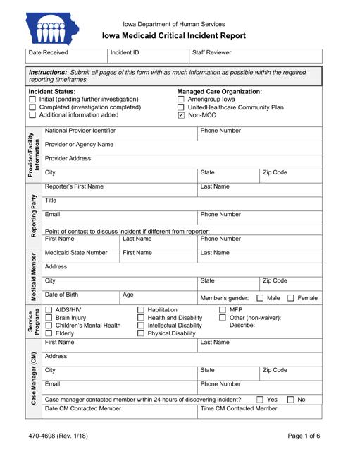 Form 470-4698  Fillable Pdf