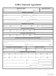 "Form AD-3018 ""Usda Telework Agreement"""