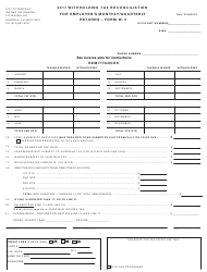 Form W-3 2017 Withholding Tax Reconciliation for Employer's Monthly/Quarterly Returns - City of Fairfield, Ohio