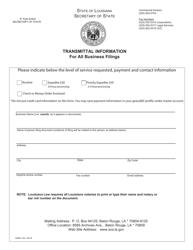 "Form SS365 ""Articles of Organization - Domestic Limited Liability Company"" - Louisiana"
