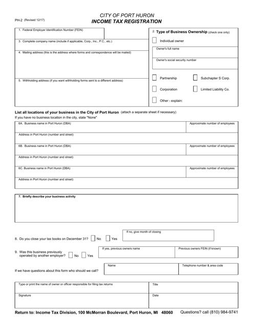 Form PH-2 Fillable Pdf