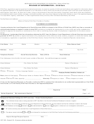 """Form OCC1260 """"Release of Information - Child Care"""" - Maryland"""