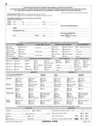 """NASA ARC Form 277B """"General Report Form"""""""