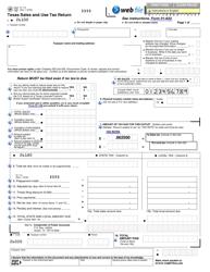 Form 01-114 Texas Sales and Use Tax Return - Texas