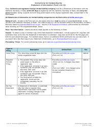 Form LLC-12 Statement of Information (Limited Liability Company) - California