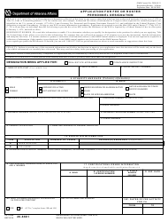 VA Form 26-6681 Application For Fee Or Roster Personnel Designation