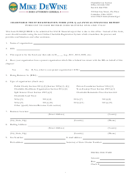 Form CFR-1 Charitable Trust Registration Form and Annual Financial Report - Ohio