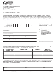 "Form DE428C ""De 428t Protest Sample Form"" - California"