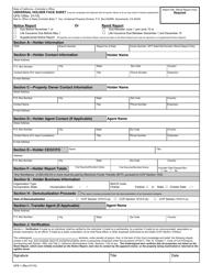 Form UFS-1 Universal Holder Face Sheet - California