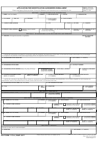 "DD Form 1172-2 ""Application for Identification Card/DEERS Enrollment"""
