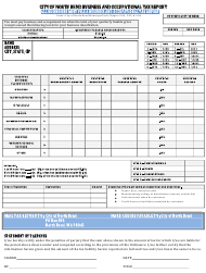 """Business and Occupational Tax Report Form"" - City of North Bend, Washington"