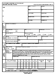 """NAVPERS Form 1306/7 """"Electronic Personnel Action Request"""""""