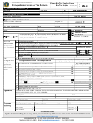 "Form OL-3 ""Occupational License Tax Return"" - City of Louisville, Kentucky"