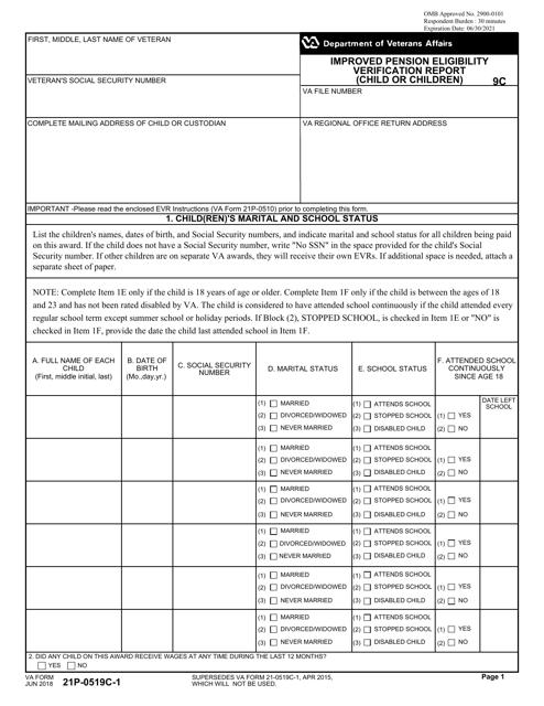 VA Form 21P-0519C-1 Printable Pdf