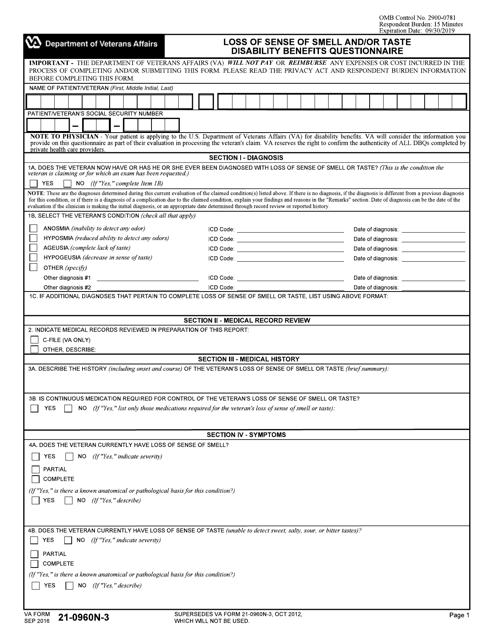 VA Form 21-0960N-3  Printable Pdf