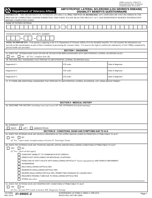 VA Form 21-0960C-2 Fillable Pdf