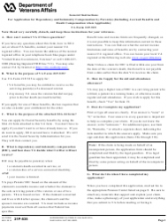 """VA Form 21P-535 """"Application for Dependency and Indemnity Compensation by Parent(S)"""""""