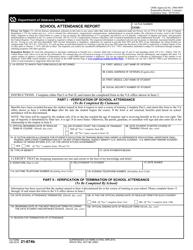 VA Form 21-647B School Attendance Report