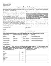 Form DR 0024 Standard Sales Tax Receipt - Colorado