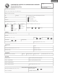 Form 43823 Confidential Report of Communicable Diseases 43823 - Indiana