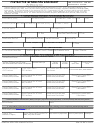 "GSA Form 850 ""Contractor Information Worksheet"""