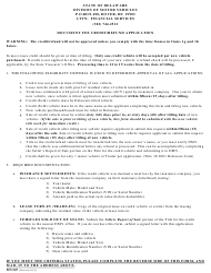"Form MV347 ""Document Fee Credit/Refund Application"" - Delaware"