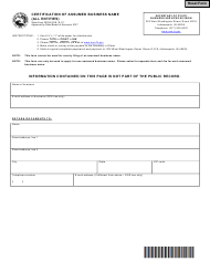 "Form 30353 ""Certification of Assumed Business Name (All Entities)"" - Indiana"