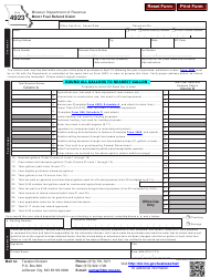 "Form 4923 ""Motor Fuel Refund Claim"" - Missouri"