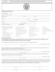 "Form AP-1 NEG ""Negative Reporting Form for Abandoned and Unclaimed Property"" - Pennsylvania"
