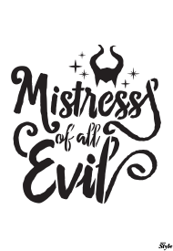 """""""Mistress of All Evil Halloween Poster Template"""""""