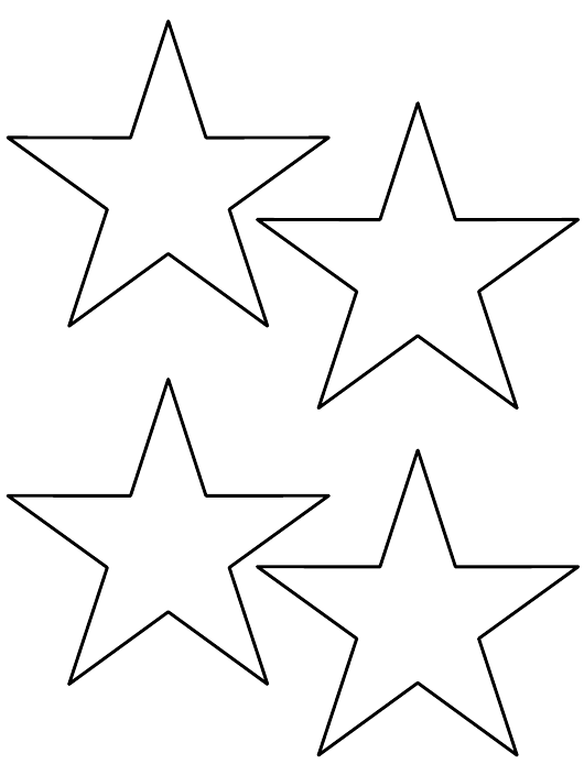 """""""4-inch Star Templates"""" Download Pdf"""