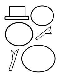 Snowman's Parts Cut-Out Template