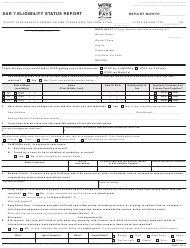 "Form SAR7 ""Eligibility Status Report"" - California"