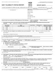 Form SAR 7 Eligibility Status Report - California