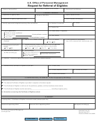 OPM STANDARD Form 39 Request for Referral of Eligibles