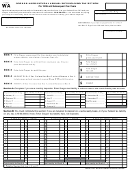 Form WA Oregon Agricultural Annual Withholding Tax Return - Oregon