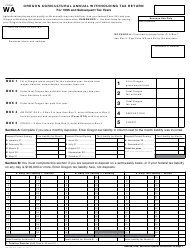 Form 150-206-013-1 Form Wa - Oregon Agricultural Annual Withholding Tax Return - Oregon