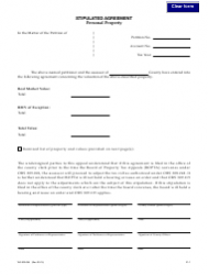 """Form 150-303-055 """"Stipulated Agreement - Personal Property"""" - Oregon"""