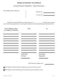 """Form 150-303-055 """"Stipulated Agreement - Personal Property"""" - Oregon, Page 2"""