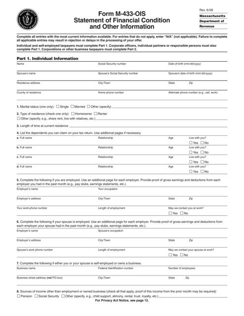 Form M-433-OIS Printable Pdf