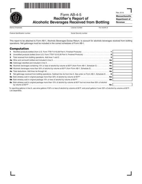Form AB-4-5  Printable Pdf