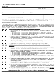 Form CW 2186A Calworks Exemption Request Form - California