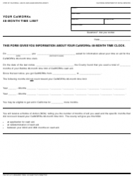 Form CW 2187 Your Calworks 48-month Time Limit - California