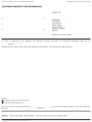 Form CF 387 Calfresh Request For Information - California
