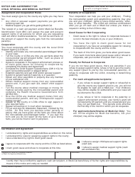 Form CW 2.1 Notice and Agreement for Child, Spousal and Medical Support - California