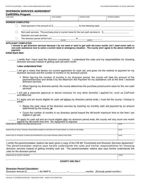 Form CW88 Printable Pdf