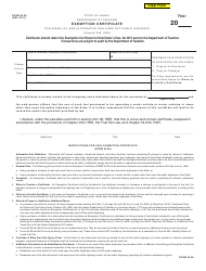 Form M-38 Exemption Certificate for Diesel Oil and Alternative Fuel Used off Public Highways - Hawaii