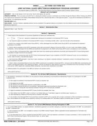 NGB Form 594-1 Army National Guard Simultaneous Membership Program Agreement